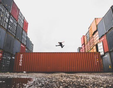 person jumping over storgae unit - Supply Chain Planning - Plex DemandCaster